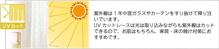UVカットカーテン(UVカットレース)は紫外線をカットします