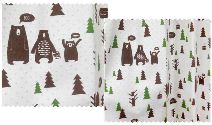 クマ柄キッズオーダーカーテン
