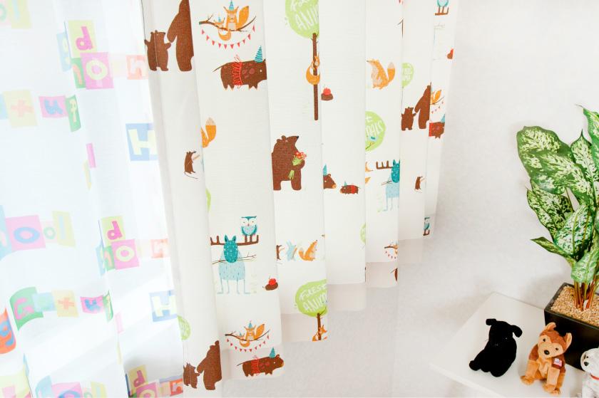 可愛い動物柄カーテンは子供部屋にもぴったり