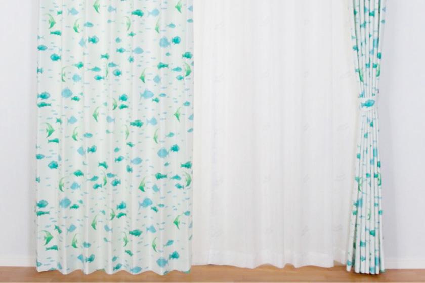 子供部屋はもちろん、リビングにもおすすめなマリンテイストのカーテン