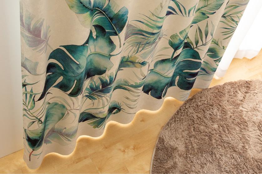水彩で描いたようなモンステラやバナナの葉