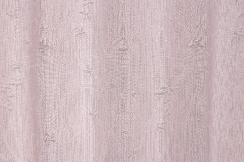 小花と波柄をジャガードで表現した遮光性オーダーカーテン
