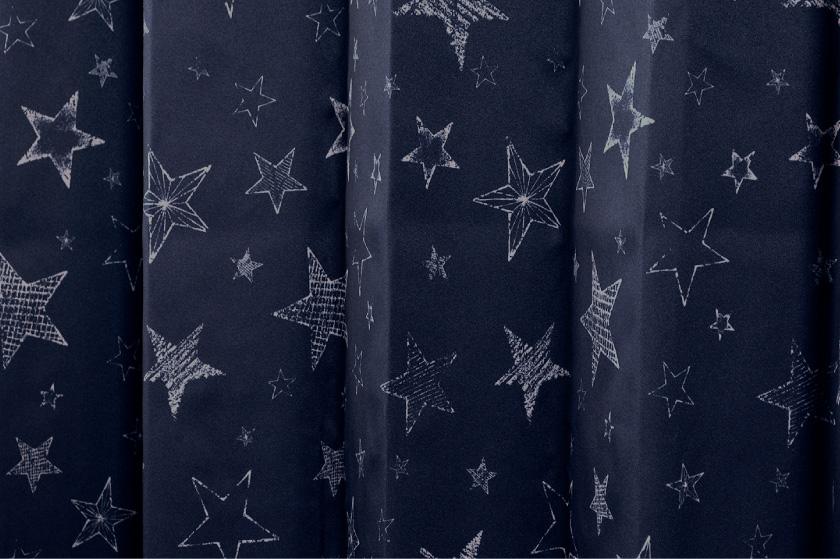 子供部屋にもおすすめの星柄4枚セットカーテン