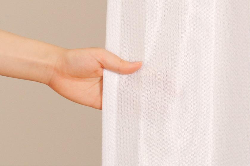 無地の格安既製ミラーレースカーテン。UVカット、遮熱機能がついています