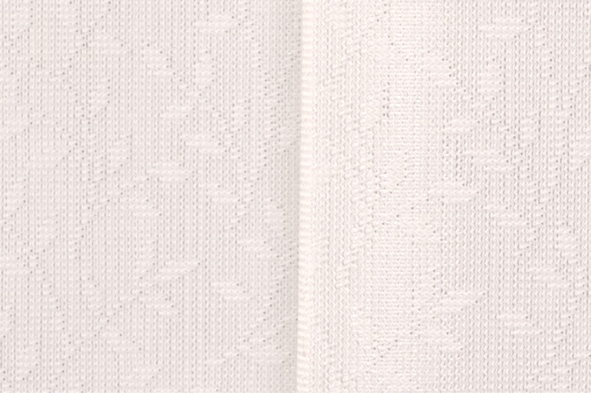 細いリーフ柄の格安既製ミラーレースカーテン。UVカット、遮熱機能がついています