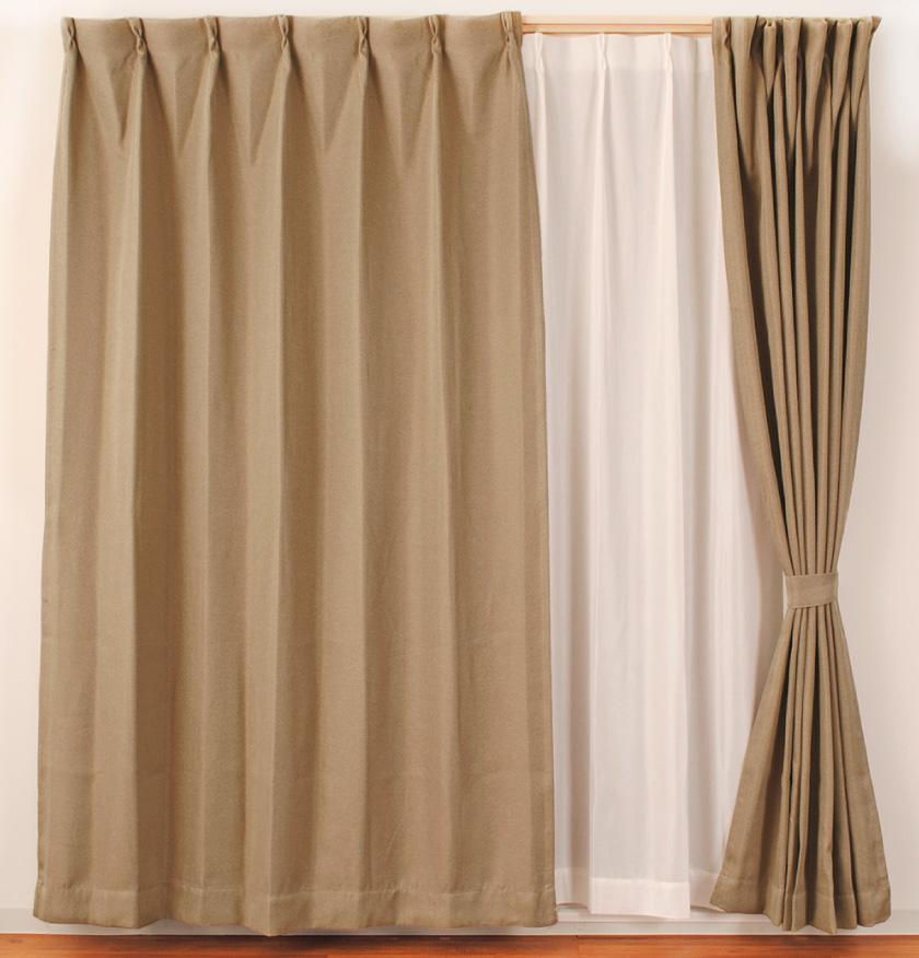 人気の既製4枚セットカーテン。遮光、遮熱、UVカット、ミラーレースとドレープもレースも高機能です