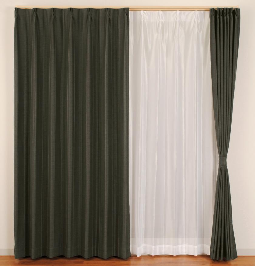 シンプルで合わせやすい、大人気の格安既製4枚セットカーテン。遮光、ミラーレース機能付き