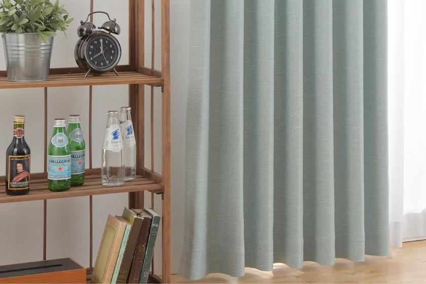人気の無地、シンプル、遮光のオーダーカーテンです。ナチュラルな雰囲気