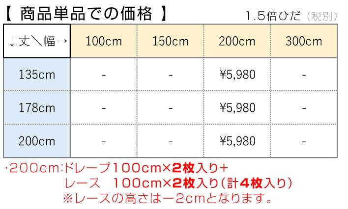 4枚セットカーテン値段